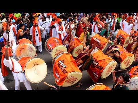 Girgaon Dhwaj Pathak 2018 at Gudi Padwa | Dhol Tasha Pathak | Mumbai Attractions