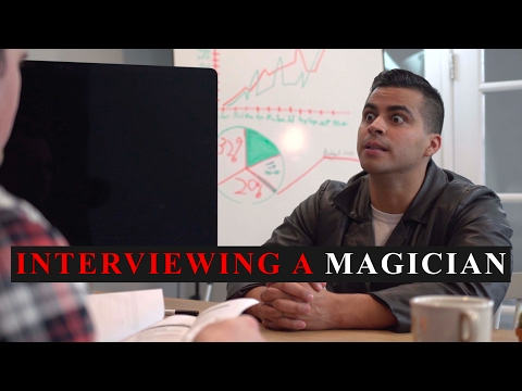 Interviewing a Magician - David Lopez