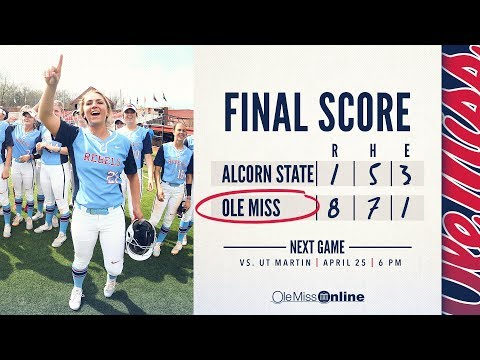 HIGHLIGHTS    Ole Miss defeats Alcorn State 8-1 (Game 2) 04-24-2018 #WAOM #FinsUpRebels