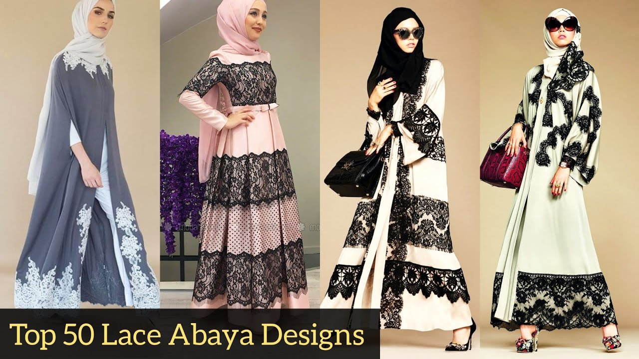 Top 50 Latest Most Popular Fashionable Modern Style 2020 Of Lace Abayas For Girls Best Collection