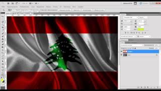 уроки по Photoshop CS5-CS6 Реалистичный эффект флага