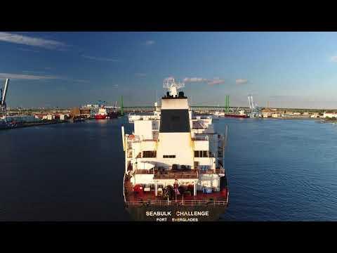 Oil Tanker Seabulk Challenge Arriving Port of Philadelphia