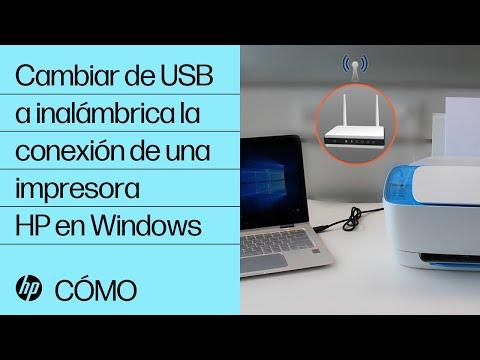 Cambiar de USB a inalámbrica la conexión de una impresora HP en Windows | HP Computers | HP