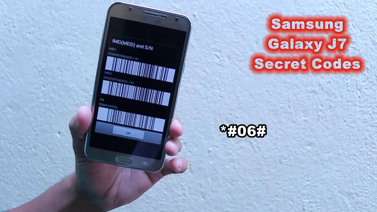 Samsung Galaxy J7 SECRET CODES
