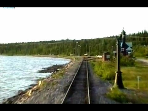 Sweden. Inland Railway: JOKKMOKK - GÄLLIVARE (1997) Train Driver's Cab View from YF1 1330