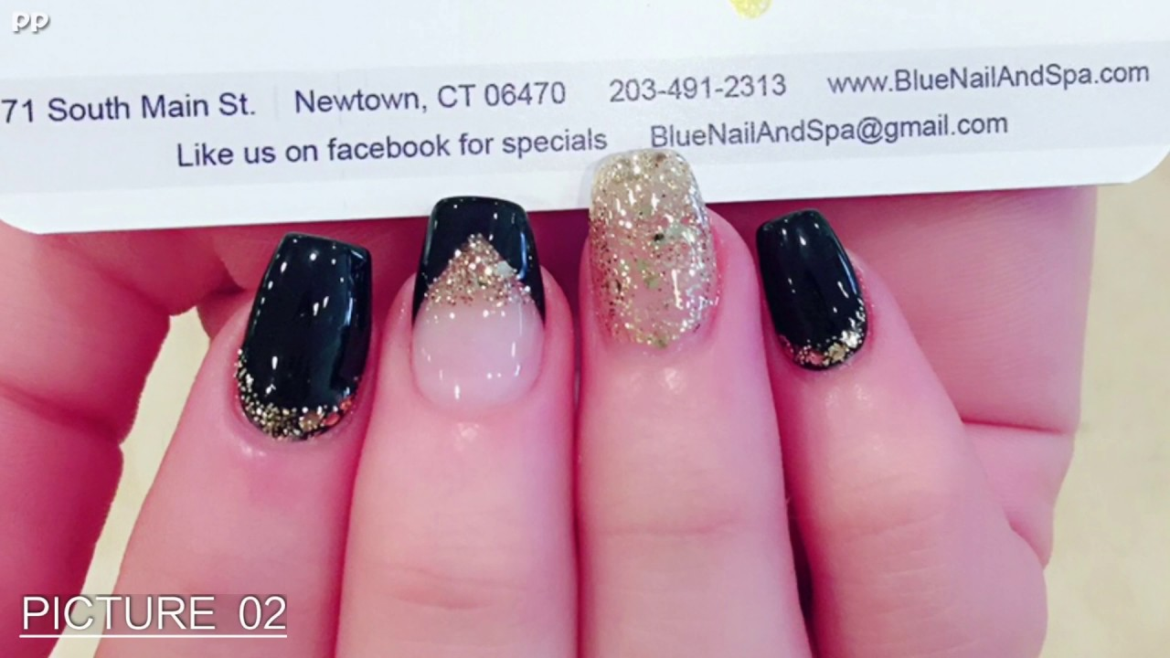 BLUE NAIL SPA Best nails Designs in Connecticut Newtown - YouTube