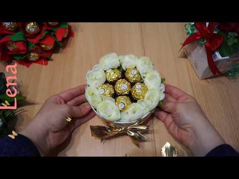 kreative-tipps-von-lena---ferrero-rocher-rosenbox-diy---roses-gift-box-with-ferrero-rocher-diy