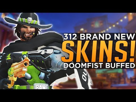Overwatch: 312 NEW Skins LIVE! - Doomfist BUFFED!
