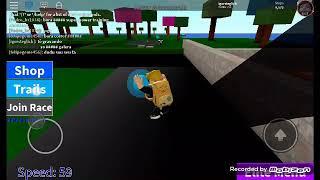 Jouer sur la carte de speed Simulator sur ROBLOX