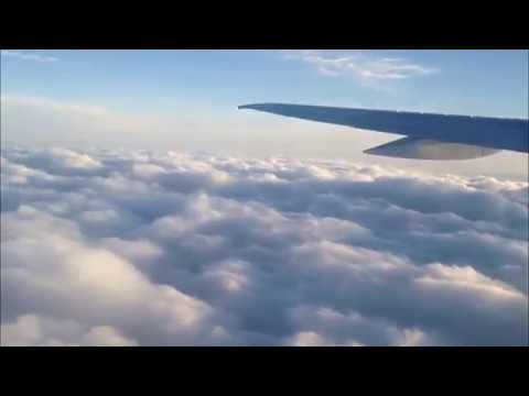 Azerbaijan Airlines Boeing 757-200 Beautifull flight, Clouds, Color Change