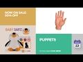 default - Set Of Ten Finger Hands Finger Puppets