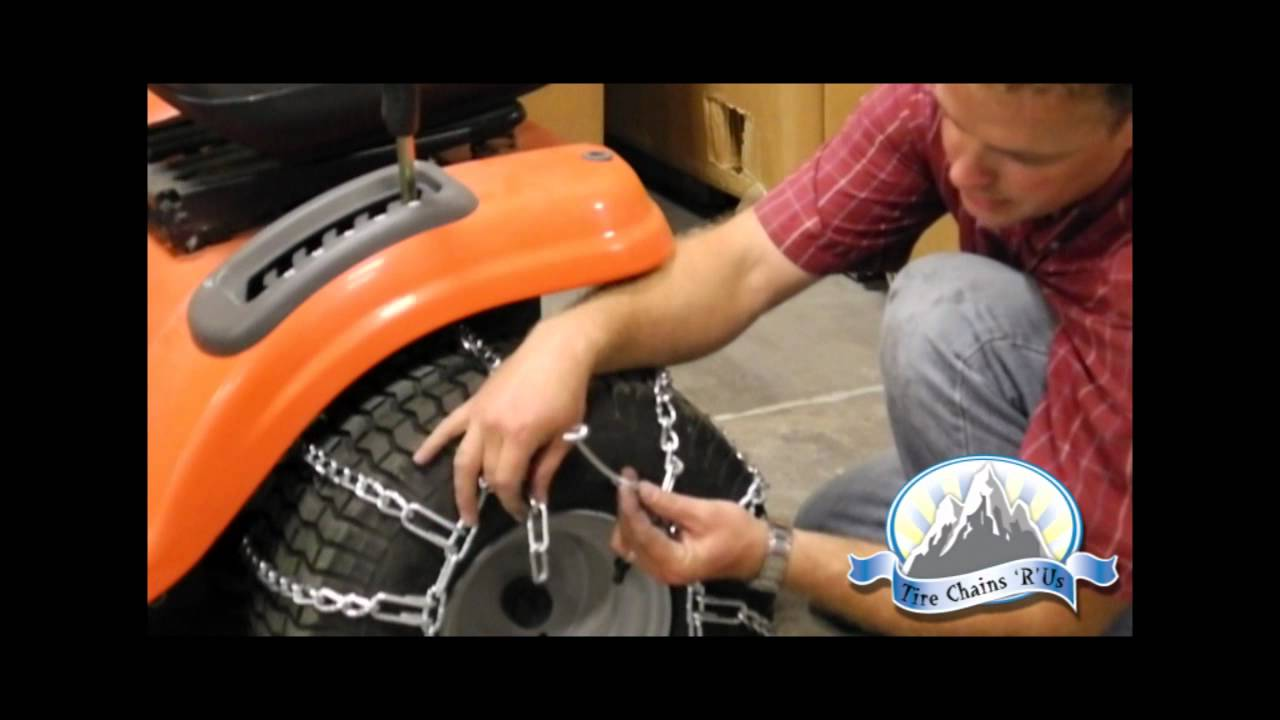 How To Install Lawn Tractor Tire Chains