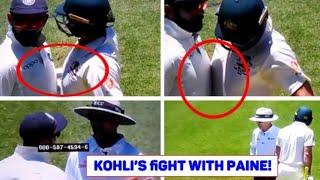Virat Kohli vs Tim Paine | Kohli & Paine's fight - Sledging Reactions - India vs Australia, 2nd Test