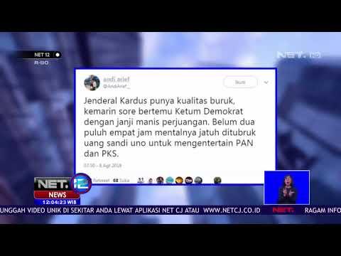 Cuitan Kontroversial Andi Arief Tentang Mahar Politik Sandiaga Uno NET12