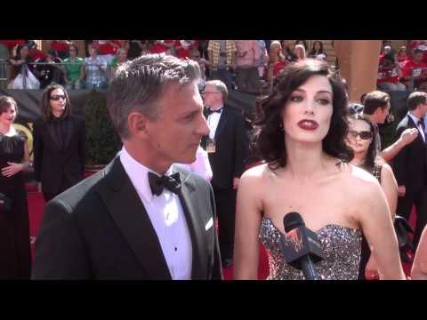 Christopher Stanley, Jessica Pare, Mad Men: 2011 Primetime Emmys Red Carpet