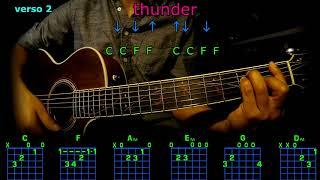 thunder imagine dragons acordes  en guitarra Video