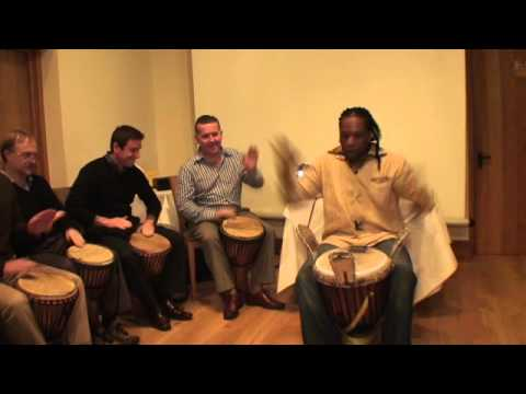 Corporate Drumming Workshop @ HSBC by Trap Media