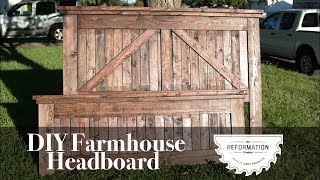 Farmhouse Headboard // DIY + How to