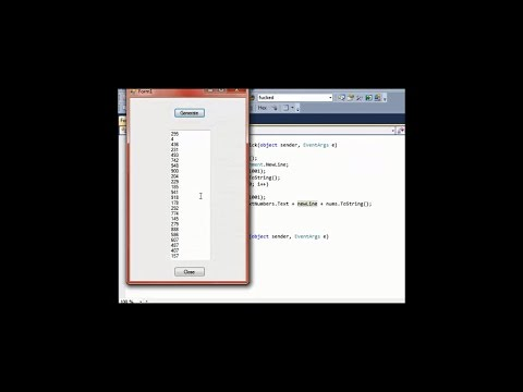 Create 100 Random Numbers Using a Random Number Generator and a Windows Form in C #
