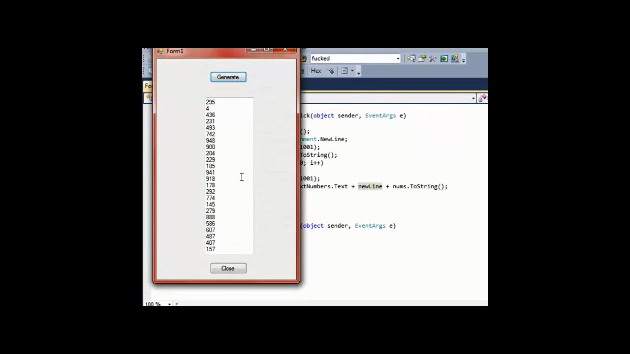 Create 100 Random Numbers Using a Random Number Generator and a ...