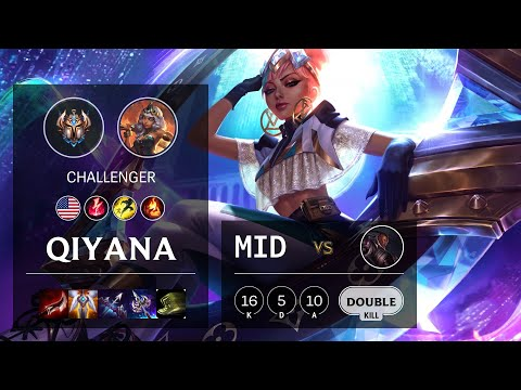 Qiyana Mid vs Lucian - NA Challenger Patch 10.18