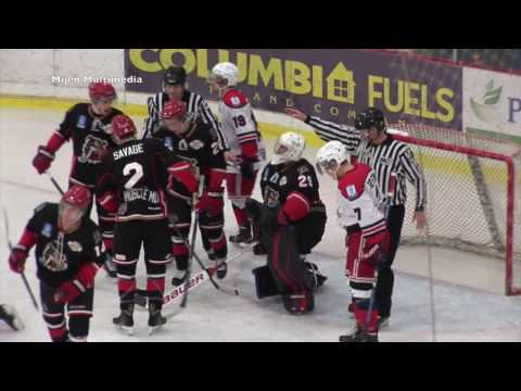 11-23-16 Alberni Bulldogs at Cowichan Capitals