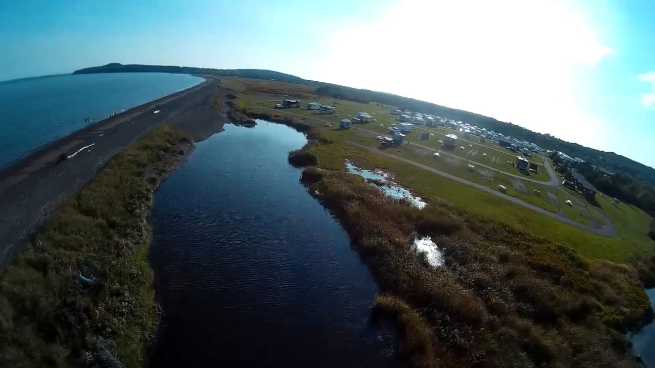 Bay Of Fundy Camping >> Camping Beach Saint Martins New Brunswick Bay Of Fundy Drone Video