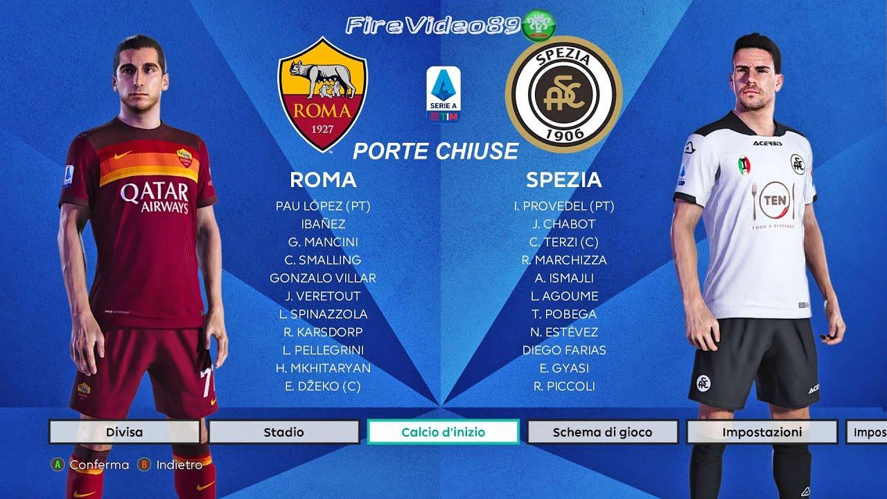 Download Pes 2021 Serie A • Roma Vs Spezia • (19° Giornata)