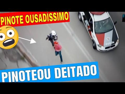 Fuga da Rocam Pinote ousado deitado na Moto CG 150