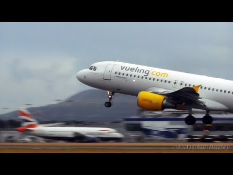 Vueling A320 Land and Takeoff | Edinburgh Airport | with ATC.