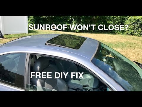 HOW TO FIX A SUNROOF THAT WON'T CLOSE ON ANY BMW - YouTube