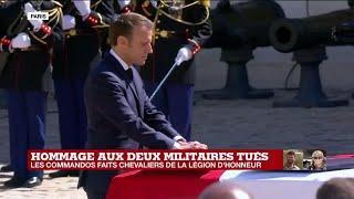 Les deux commandos tués aux Burkina Faso faits chevaliers de la Légion d'honneur