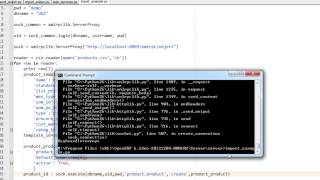 OpenERP 7 - Import data using XML-RPC and Python Script