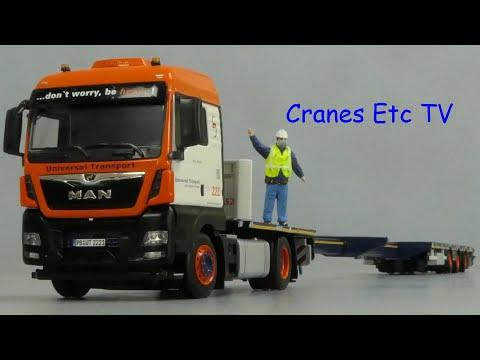 WSI MAN TGX XLX + Mega Trailer 'Universal Transport' by Cranes Etc TV
