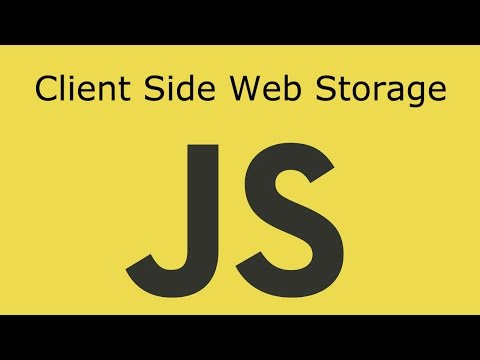 JavaScript Lesson 19 Client Side Web Storage