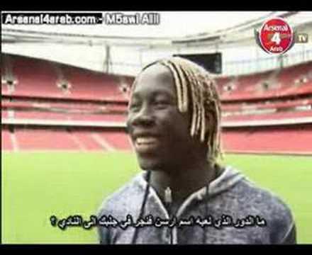 Bakari Sagna prvi interview u dresu Arsenala ...1. dio