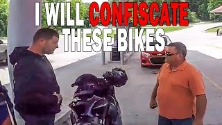 OFF DUTY COP vs BIKERS | STUPID, CRAZY & ANGRY PEOPLE vs BIKERS | [Ep. #239]