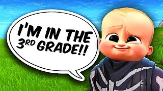 THE *FUNNIEST* LITTLE KID EVER IN FORTNITE BATTLE ROYALE!