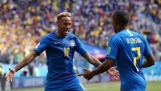 BRAZIL 2-0 COSTA RICA | NEYMAR DENIED PENALTY THANKS TO VAR | FAN REACTION