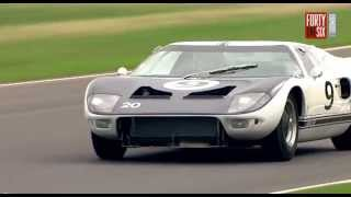 Thunderous Ford GT40's at Goodwood Revival