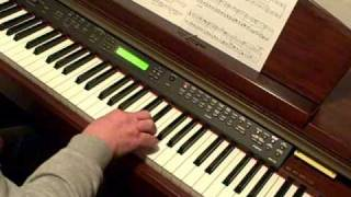 Midsomer murders theme tune on piano .
