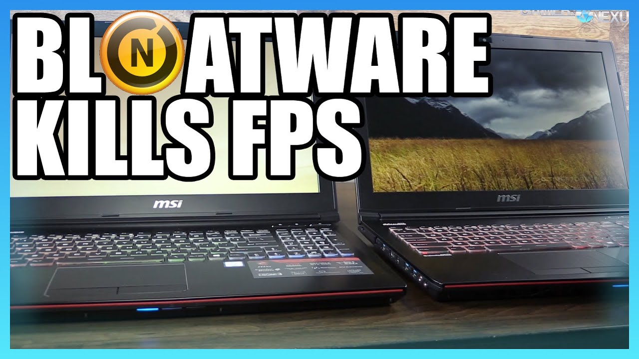 Bloatware Kills FPS Performance – Benchmark ft  Norton, 1060 Laptop