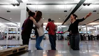 Forró improvisation at Montreal Airport - ft Cyrielle and Thibault Ferrand