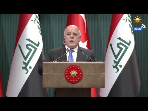 Cumhurbaşkanımız Erdoğan, Irak Başbakanı El-İbadi ile basın toplantısı düzenledi