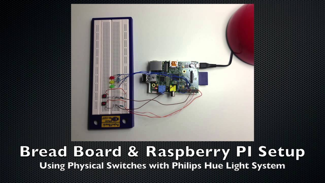 Controlling Philips Hue, with Raspberry PI, Python and Physical Switches