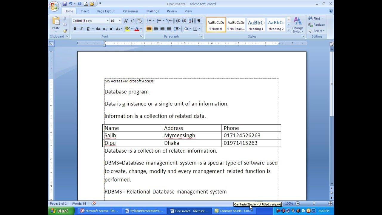 1  microsoft access  u0026 vba bangla tutorial