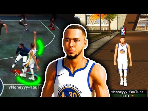 STEPHEN CURRY IN THE PARK! OMG HIS JUMPSHOT IS CHEATING! NBA 2K19 CURRY DOES NOT MISS IN THE PARK!