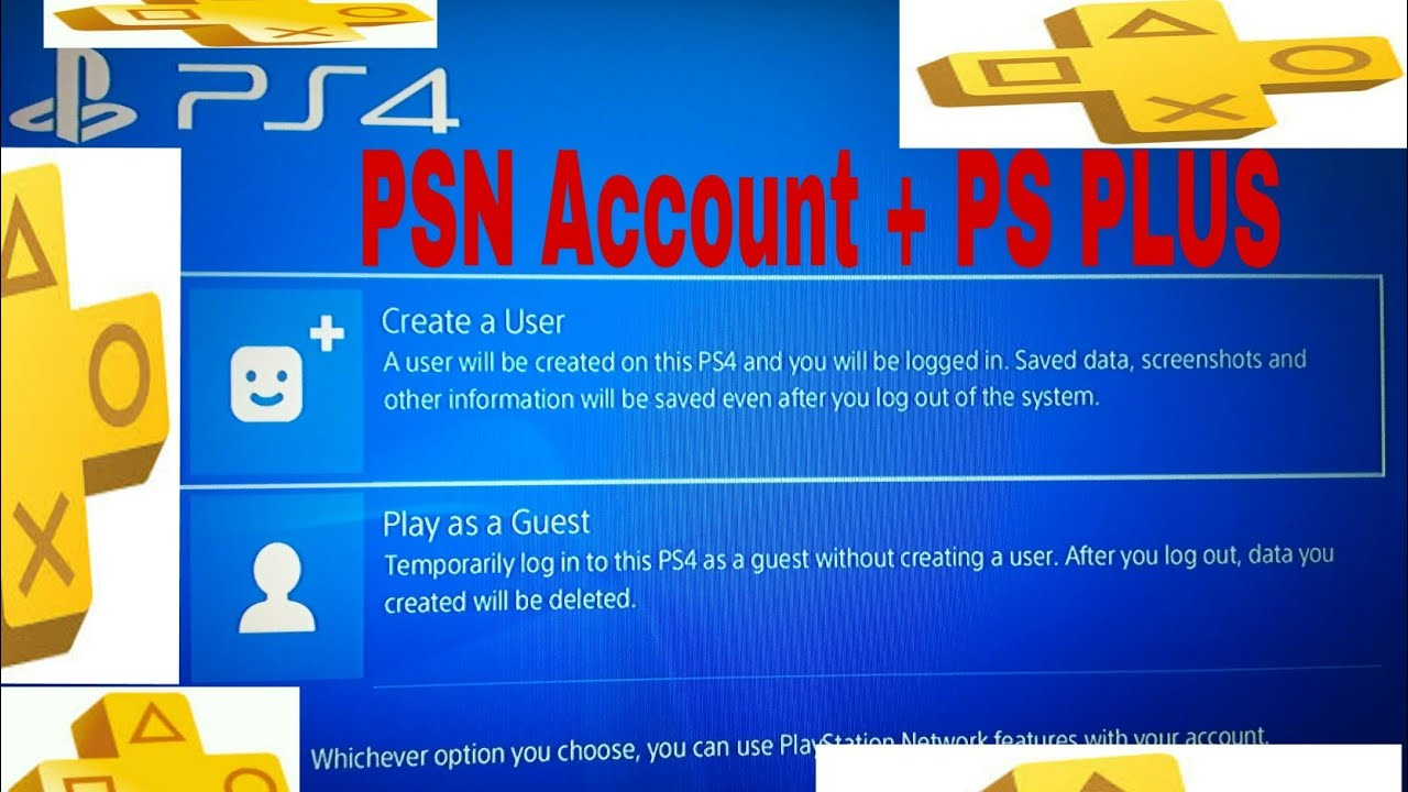 How To Create A PSN Account On PS4 And Get Free 14 Days PS PLUS (2019)