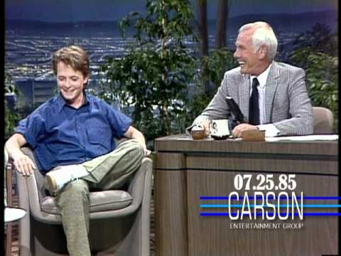 Michael J. Fox's First Appearance on Johnny Carson's Tonight  1985