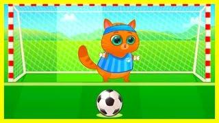 Котик Бубу Котофей игра мультик для детей Котик Bubbu играет в футбол мультфильм